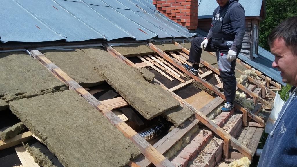 Ремонт старой крыши своими руками
